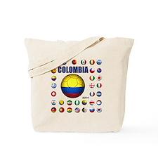 Colombia futbol soccer Tote Bag
