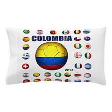 Colombia futbol soccer Pillow Case