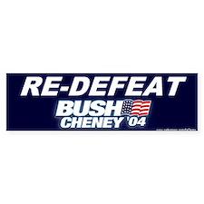 """""""Re-Defeat George"""" Bumper Bumper Sticker"""