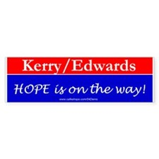 """Hope is on the Way!"" Bumper Bumper Sticker"