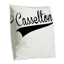 Casselton, Retro, Burlap Throw Pillow