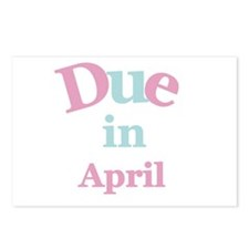 Pink Due in April Postcards (Package of 8)