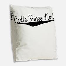 Castle Pines North, Retro, Burlap Throw Pillow