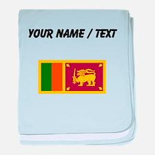Custom Sri Lanka Flag baby blanket