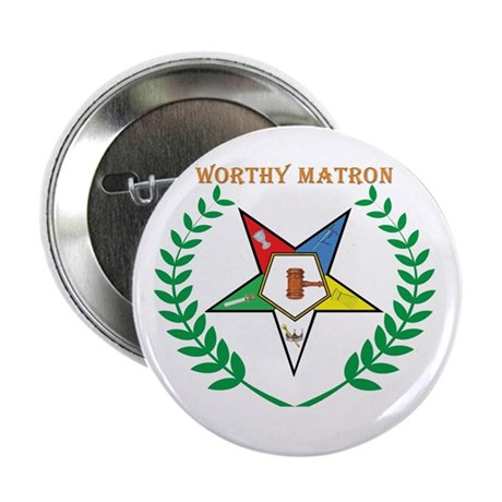 OES Worthy Matron Button