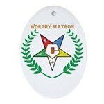 OES Worthy Matron Oval Ornament