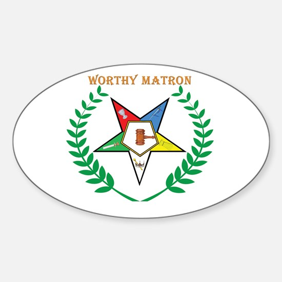 OES Worthy Matron Oval Decal