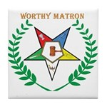 OES Worthy Matron Tile Coaster