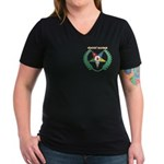 OES Worthy Matron Women's V-Neck Dark T-Shirt