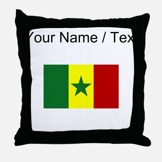 Custom Senegal Flag Throw Pillow