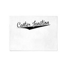 Center Junction, Retro, 5'x7'Area Rug
