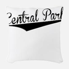 Central Park, Retro, Woven Throw Pillow
