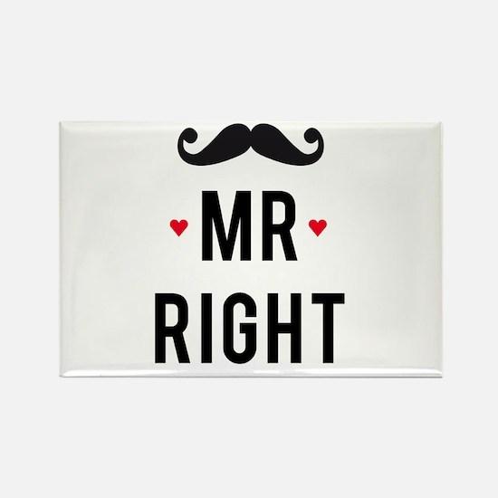 Mr right mustache Magnets