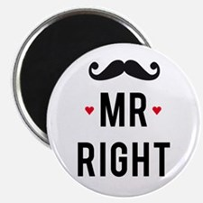 Mr right mustache Magnets