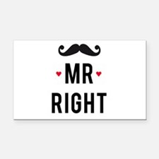 Mr right mustache Rectangle Car Magnet