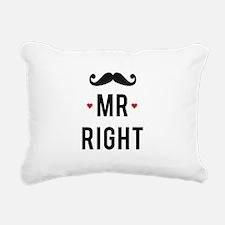 Mr right mustache Rectangular Canvas Pillow