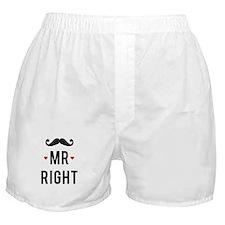 Mr right mustache Boxer Shorts