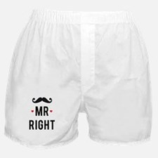 Mr right mustache Boxer Shorts