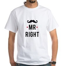 Mr right mustache T-Shirt