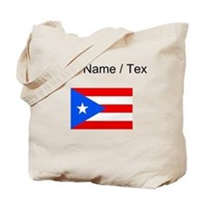 Custom Puerto Rico Flag Tote Bag