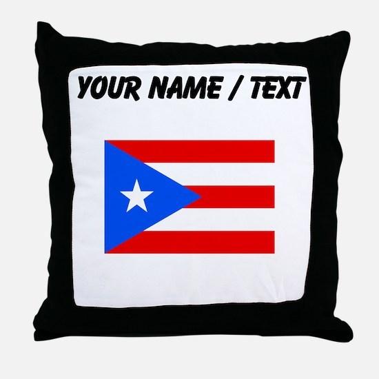 Custom Puerto Rico Flag Throw Pillow