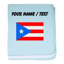 Custom Puerto Rico Flag baby blanket