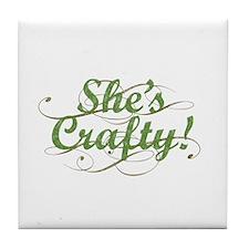 She's Crafty Tile Coaster