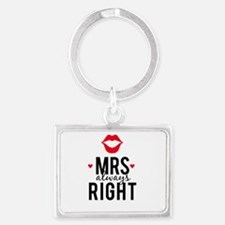 Mrs always right red lips Keychains