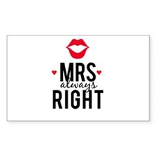Mrs always right red lips Decal