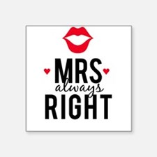 Mrs always right red lips Sticker
