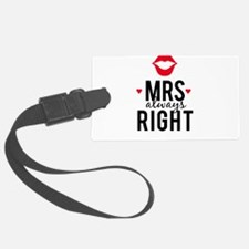 Mrs always right red lips Luggage Tag