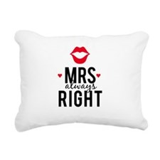 Mrs always right red lips Rectangular Canvas Pillo
