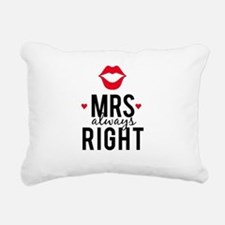 Mrs always right red lips Rectangular Canvas Pillo