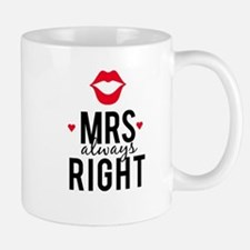 Mrs always right red lips Mugs