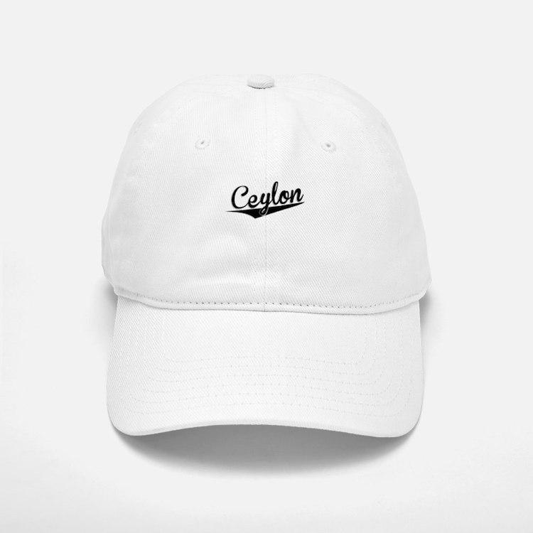 Ceylon, Retro, Baseball Baseball Baseball Cap