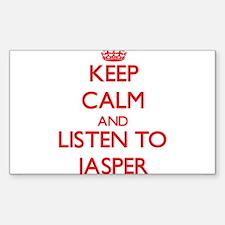 Keep Calm and Listen to Jasper Decal