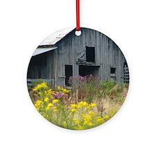Flower Barn Round Ornament