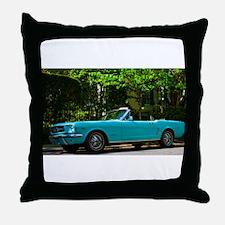 Classic Mustang Convertible Throw Pillow