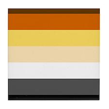 Classic Bear Pride Flag Tile Coaster