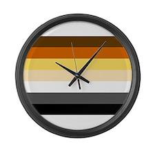 Classic Bear Pride Flag Large Wall Clock