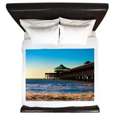 Folly Beach Pier King Duvet