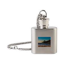 Folly Beach Pier Flask Necklace