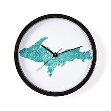 Oxidized Copper U.P. Wall Clock