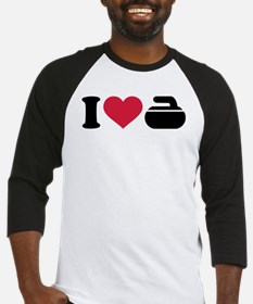 I love Curling stone Baseball Jersey