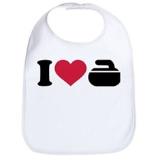 I love Curling stone Bib