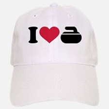 I love Curling stone Baseball Baseball Cap