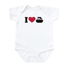 I love Curling stone Infant Bodysuit