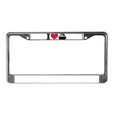 I love Curling stone License Plate Frame