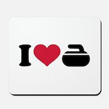 I love Curling stone Mousepad