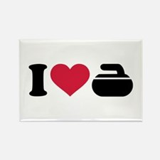 I love Curling stone Rectangle Magnet